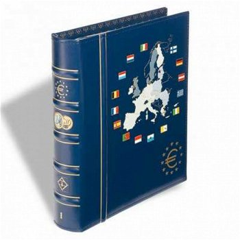 Münzalbum VISTA, Band 1, für 12 Euro Kursmünzensätze, inkl. Schutzkassette, blau, Leuchtturm 341040