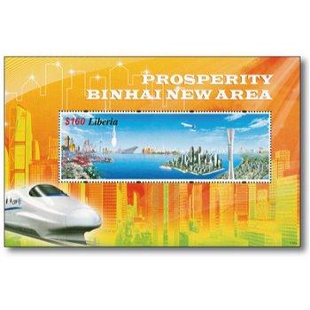 Binhai New Area - Briefmarken-Block postfrisch, Liberia