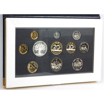 Kursmünzensatz 2001 in Polierter Platte, Frankreich