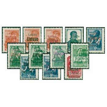 German occupation Ponewesch - catalog no. 4a, b, c, 5, 6a, b, c, 7a, b, 8a, b, c and 9 mint never hinged