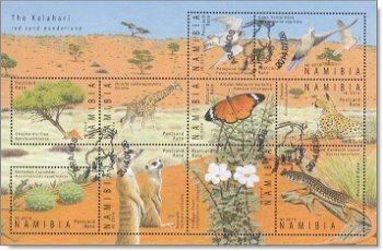 Kalahari - Kleinbogen gestempelt, Katalog-Nr. 1486-1495, Namibia