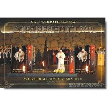 Papst Benedikt XVI. besucht Israel - Briefmarken-Block postfrisch, Palau
