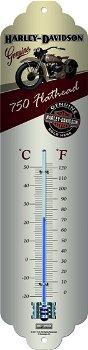 Thermometer:Harley-Davidson - Flathead -(Nostalgic Art)