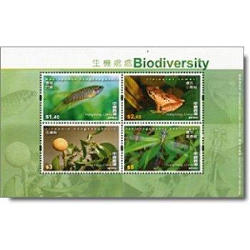 Natur pur - Briefmarken-Block postfrisch, Hongkong