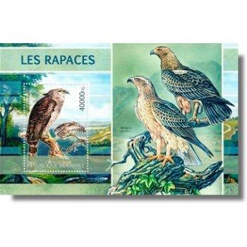 Raubvögel - Briefmarken-Block postfrisch, Guinea
