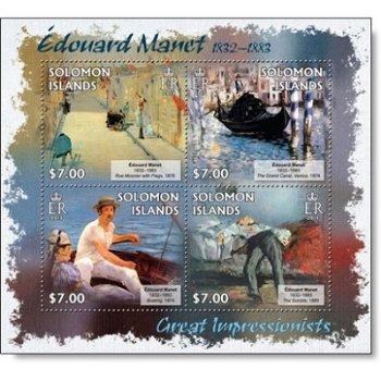 Édouard Manet II - Briefmarken-Block postfrisch, Salomon-Inseln