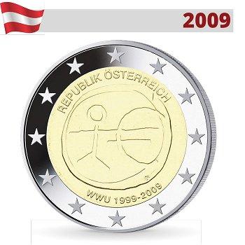 2 Euro-Münze 2009, Wirtschafts- und Währungsunion, Österreich