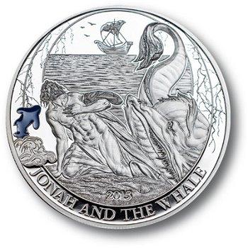 Jona und der Wal, 2 Dollar Silbermünze Palau