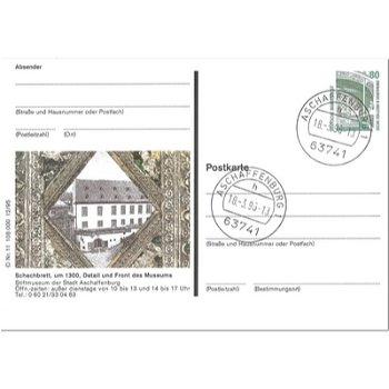 """8750 Aschaffenburg - Bildpostkarte """"Stiftmuseum"""""""