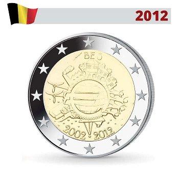 10 Jahre Euro - Gemeinschaftsausgabe, 2 Euro Münze 2012, Belgien