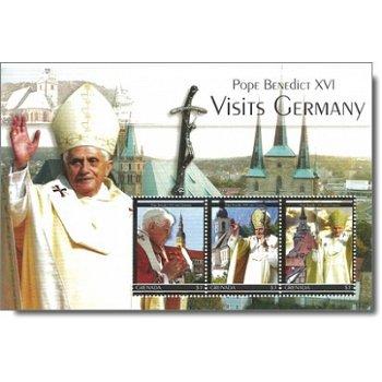 Papst Benedikt XVI. besucht Deutschland - Briefmarken-Block postfrisch, Grenada