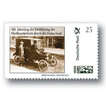 100th anniversary of the introduction of assembly line work by the company Ford - brand Individuell mint never hinged