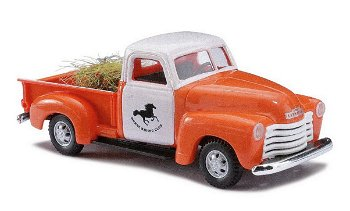 Modellauto:Chevrolet 3100 Pick Up - Horse Riding Club -(Busch, 1:87)