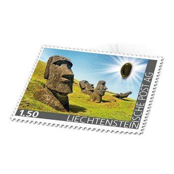 Edelsteine der Philatelie: OBSIDIAN-Briefmarke postfrisch, Liechtenstein