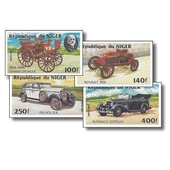 Autos - 4 Briefmarken ungezähnt postfrisch, Katalog-Nr. 892-895, Niger