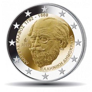 150. Todestag von Andreas Kalvos, 2 Euro Münze 2019, Griechenland