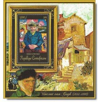 """Vincent van Gogh """"Bildnis Pere Tanguy"""" - Briefmarken-Block postfrisch, Zentralafrika"""
