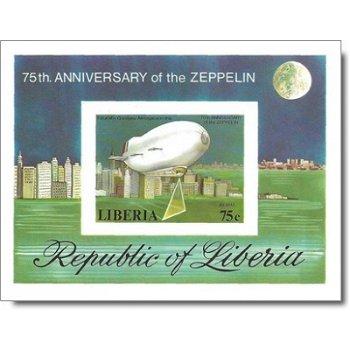 75 Jahre Zeppelin-Luftschiffe – Briefmarken-Block postfrisch, ungezähnt, Katalog-Nr. 1060, Block 89