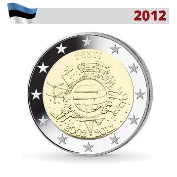 10 Jahre Euro, 2 Euro Münze 2012, Estland