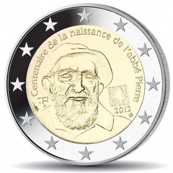 100. Geburtstag Abbé Pierre, 2 Euro Münze 2012, Frankreich