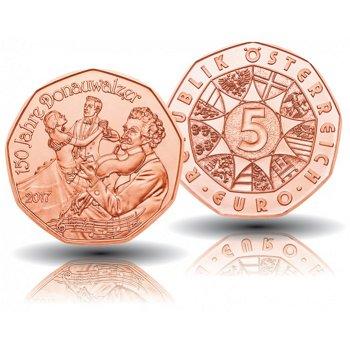 150 Jahre Donauwalzer, 5 Euro Münze 2017, Österreich