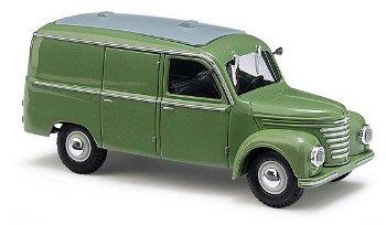 Modellauto:Framo V901/2 Kastenwagen, grün(Busch, 1:87)