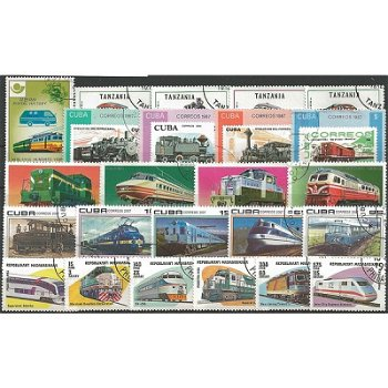 Railroad - 500 different postage stamps