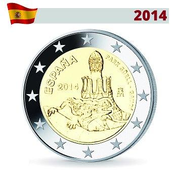 2 Euro Münze 2014, Antonio Gaudi, Spanien