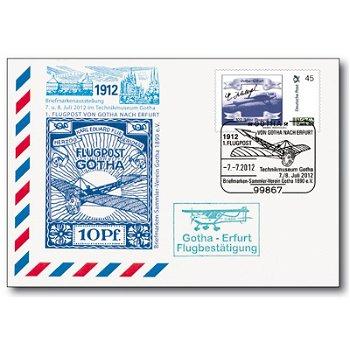 100 Jahre Flugpost in Deutschland - Flugpost Gotha/Erfurt, Erinnerungskarte