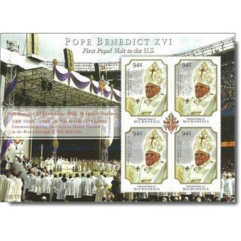 Papst Benedikt XVI. - Briefmarken-Kleinbogen postfrisch, Micronesien