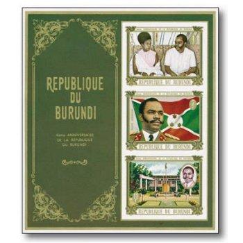 4 Jahre Republik Burundi - Briefmarken-Block postfrisch, Burundi