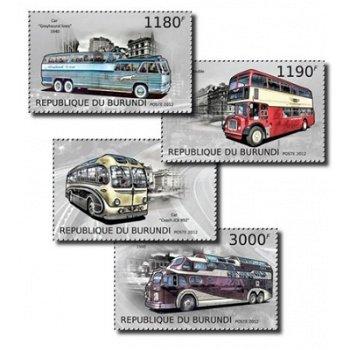 Historische Busse - 4 Briefmarken postfrisch, Burundi