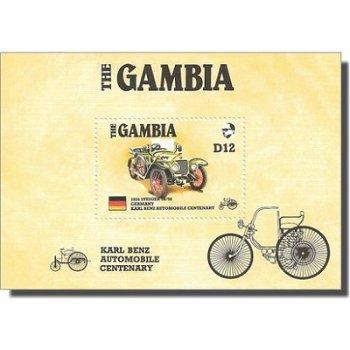 100 Jahre Auto - Briefmarken-Block, Gambia