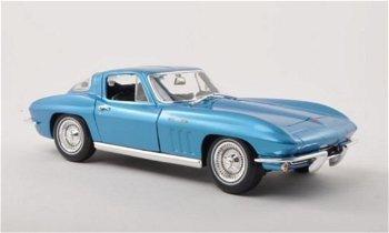 Modellauto:Chevrolet Corvette Sting Ray von 1965, blau-metallic(Maisto, 1:18)