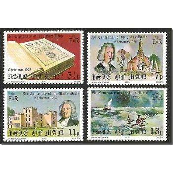 """Weihnachten """"200 Jahre Manx-Bibel"""" - 4 Briefmarken postfrisch, Katalog-Nr. 68-71, Insel Ma"""