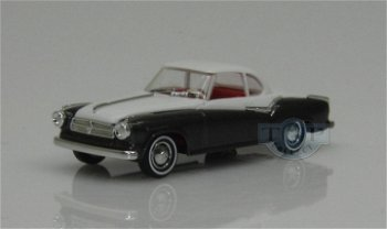 Modellauto:Borgward Isabella Coupé, grau-beige(Busch, 1:87)