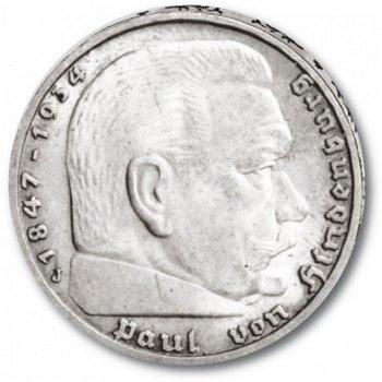 5 Reichsmark, Paul von Hindenburg, Katalog-Nr. 360, Drittes Reich