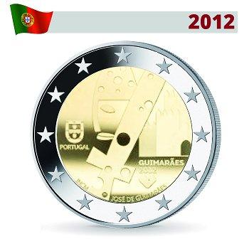2 Euro Münze 2012, Guimaraes - Kulturhauptstadt Europas, Portugal