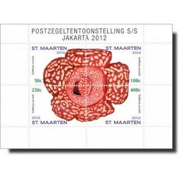 Briefmarkenausstellung Jakarta 2012 - Briefmarken-Block postfrisch, Sint Maarten