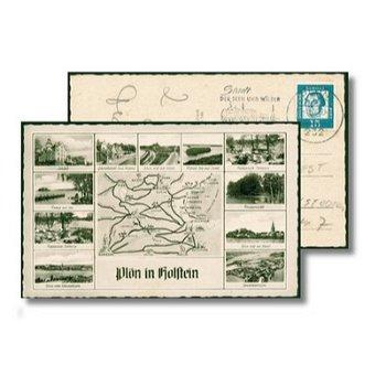2320 Plön - Postcard & quot; Sights with map & quot;
