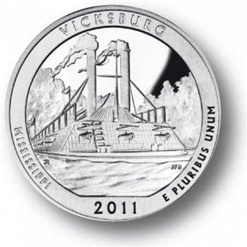 Vicksburg/Mississippi, Nationalpark Quarter Münze, USA