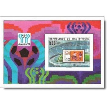 Fußball-Weltmeisterschaft 1978, Argentinien – Briefmarken-Block postfrisch, ungezähnt, Katalog-Nr. 7