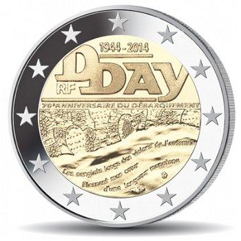 70. Jahrestag des D-Days, 2 Euro Münze 2014, Frankreich