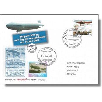 Zeppelin NT, Tag der Aerophilatelie 2011 - Beleg, Schweiz
