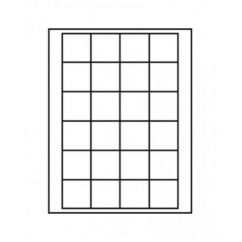 LINDNER Münzenbox, quadratische Vertiefungen 42mm, LI 2124C, Carbo