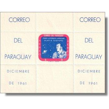 Weltraum/Alan B. Shepard - Briefmarken-Block postfrisch, Block 12, Paraguay