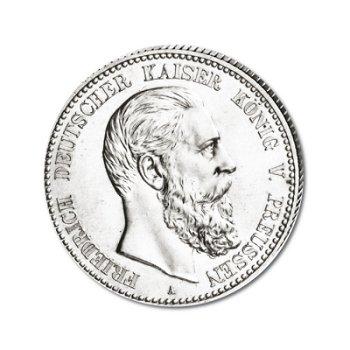 5 Mark Silbermünze, König Friedrich III., Katalog-Nr. 99, Königreich Preußen