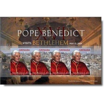 Papst Benedikt XVI. besucht Bethlehem - Briefmarken-Block postfrisch, Grenada