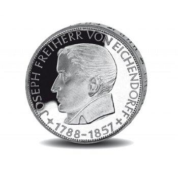 """5-DM-Silbermünze """"100. Todestag Joseph Freiherr von Eichendorff"""", vorzügliche Erhaltung"""