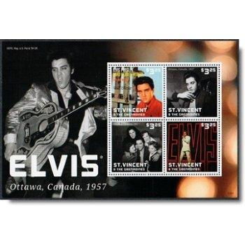 Elvis Presley in Canada - Briefmarken-Block postfrisch, St.Vincent und Grenadinen